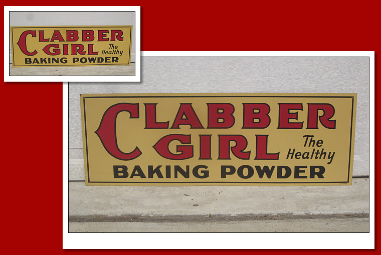 NOC DST Clabber Girl Baking Powder Sign