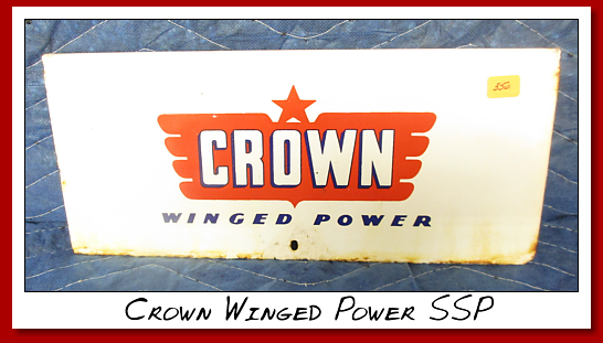 "Crown Winged Power SSP Pump plate. 12"" wide by 5 5/8"" high"