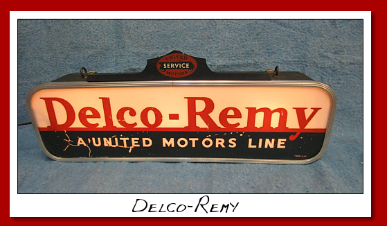 Delco-Remy lighted wall sign