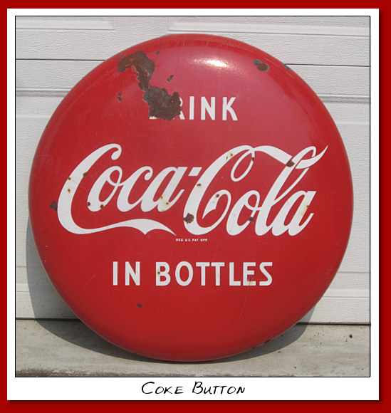 "SSP Coke button. 24"" round"