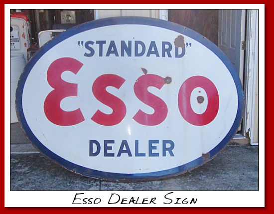 Standard Esso dealer sign