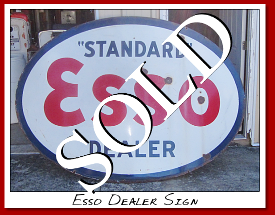 Standard' ESSO Dealer signs from early 1920's