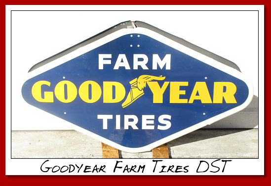 Goodyear Farm Tires DST painted. NOS