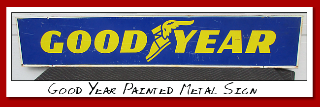 Goodyear DS painted metal sign