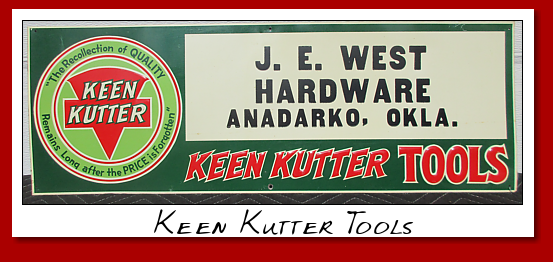 Keen Kutter Tools Sign