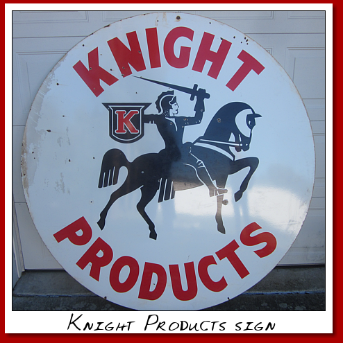 knight prodcuts dsp round street pole sign