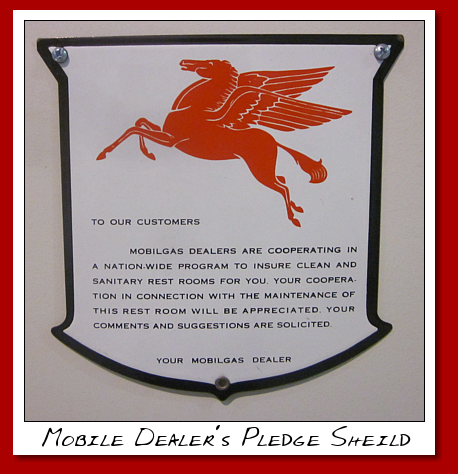 Mobil Dealer's Pledge Sheild