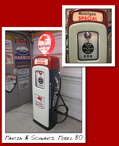 Martin and Schwartz Model 80 Ad Top restored to Mobilgas Special Gasoline