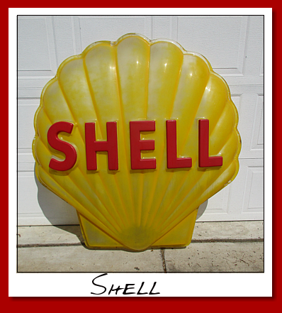 Shell gasoline plastic clam