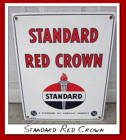 standard red crown pump sign