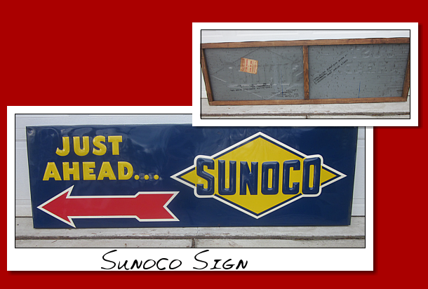 just ahead sunoco sign