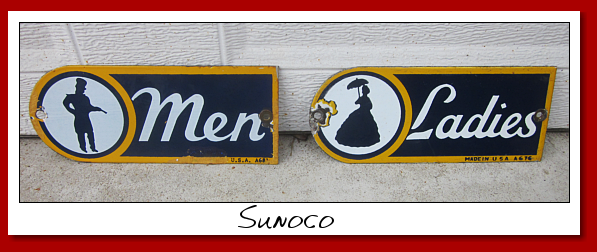 sunoco ladies and mens room sign